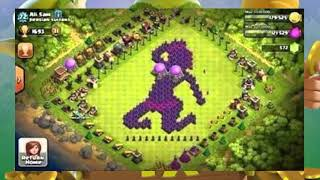 Top10 banned base ( sexually) design in clash of clans