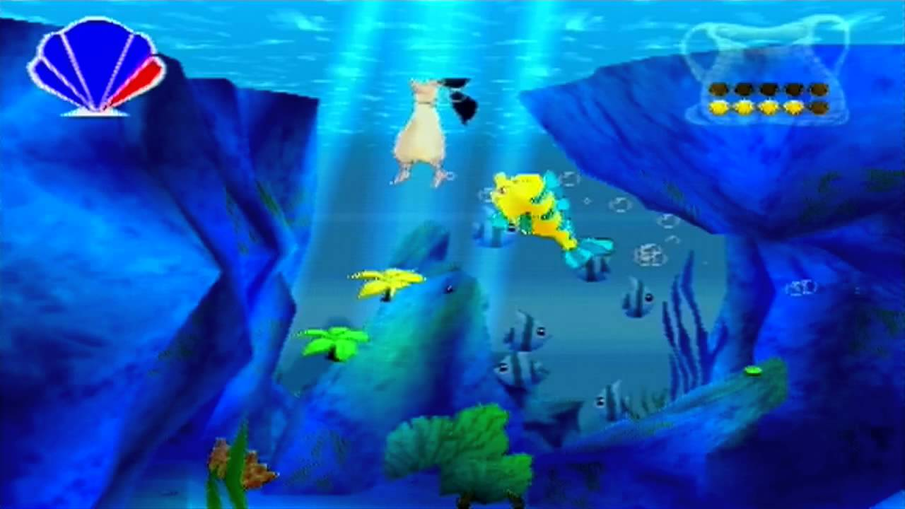 The little mermaid ii ps1 100 walkthrough part 6 for Little mermaid fish