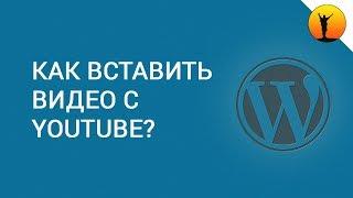 Как вставить видео с YouTube в статью на сайт WordPress?