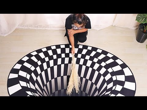 3D Visual Vortex Illusion Rug 2020——Insane
