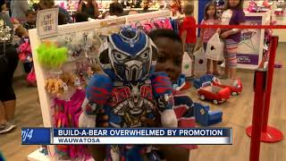 Build-A-Bear stores overwhelmed by promotion