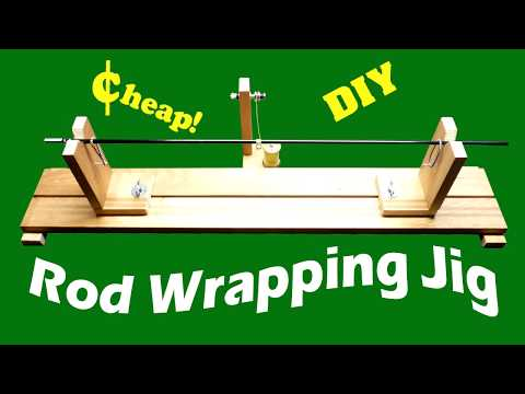 Cheap DIY Rod Wrapping Jig