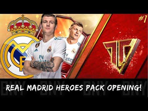 FIFA MOBILE 18 REAL MADRID TEAM HEROES PACK OPENING! ROAD TO TEAM HERO KROOS #1