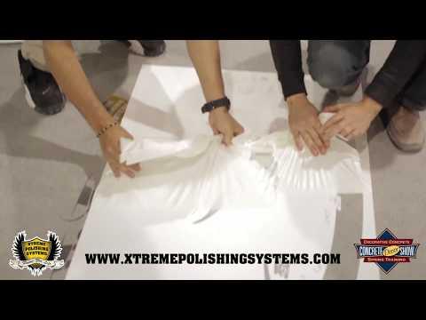 Concrete Floor Stencil Application (Start To Finish) | Concrete Decor Show 2013