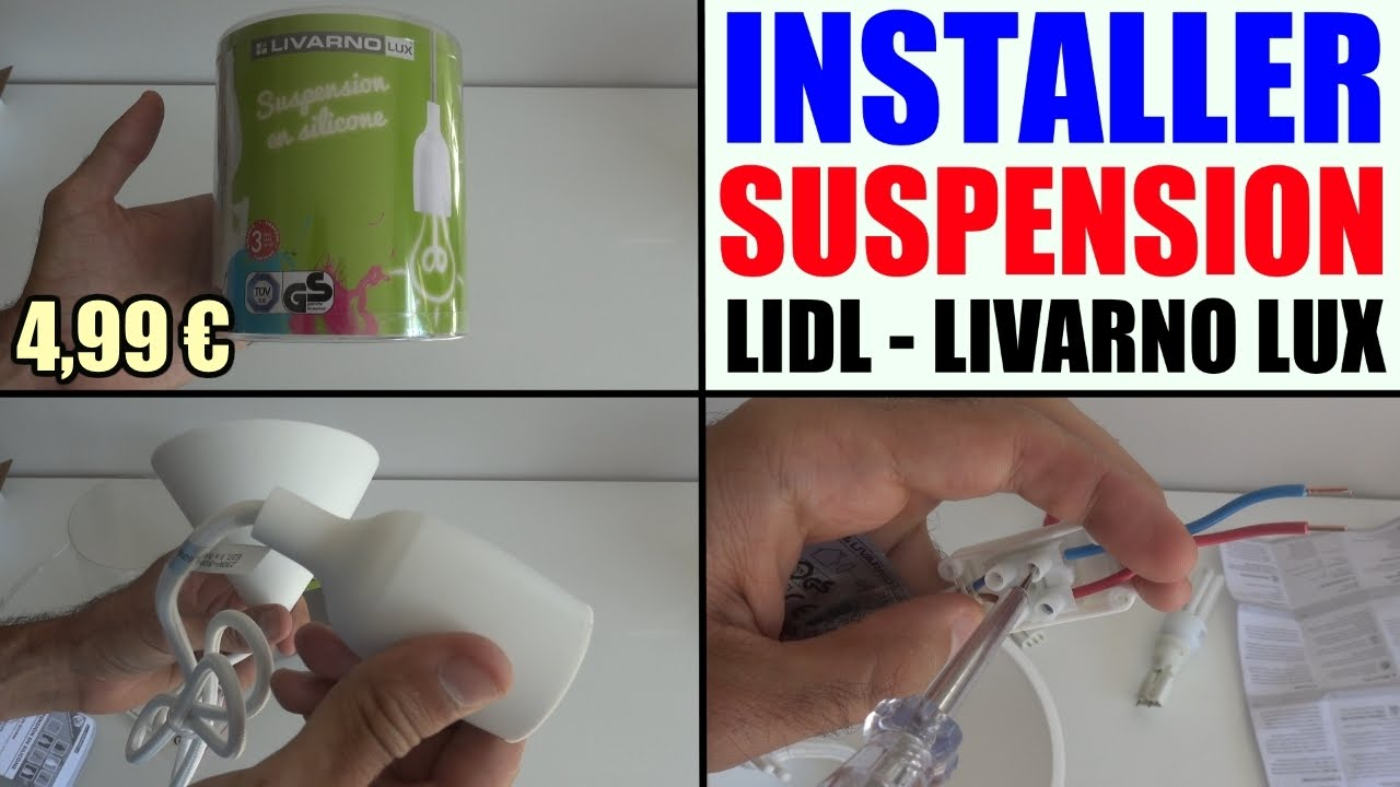 Installer une suspension lidl livarno lux douille dcl installation pose plafo - Luminaire suspension ikea ...
