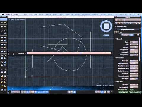 AutoCAD 2014 for Mac Tutorial | Function Keys And Other Keyboard Shortcuts