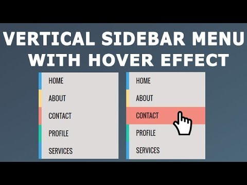 How to create Vertical Sidebar Menu with Hover effect using HTML and CSS only thumbnail
