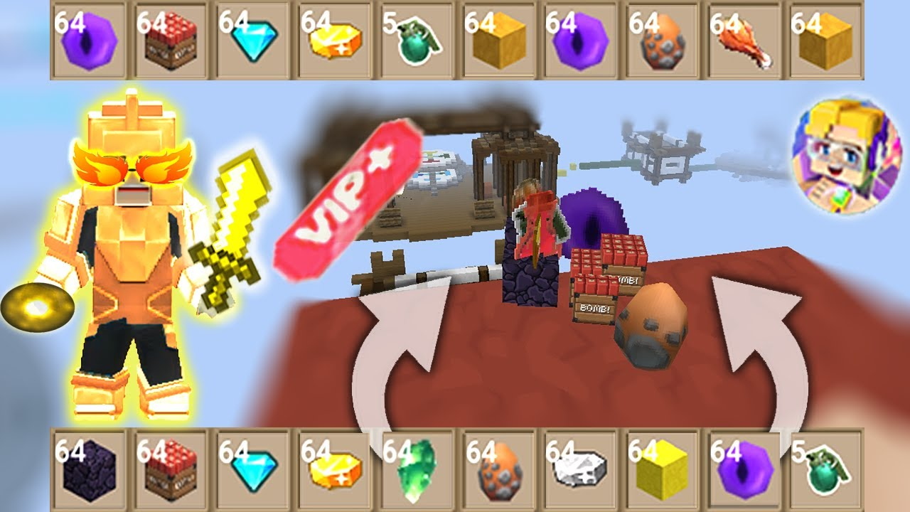 POWER OF 999+ GCUBES In Egg Wars   Blockman Go Gameplay (Android , iOS)