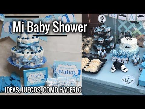 COMO HACER ADORNOS BABY SHOWER- DECORACIÓN | Ideas y juegos Baby Shower, manualidades | @CHAVOSVLOGS
