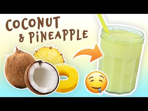 Coconut Pineapple Smoothie (Weight Loss Smoothie Recipe)
