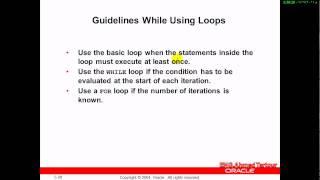 كورس PL SQL   المحاضره السادسه   loop