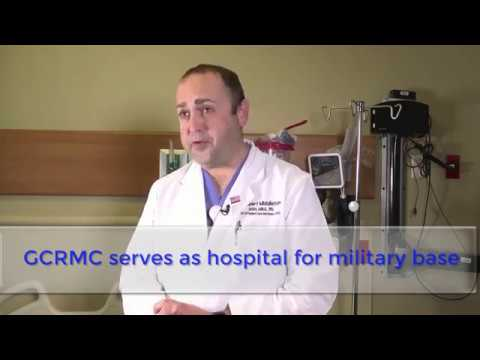 What is GCRMC's relationship with the local military base - http://GCRMCnursejobs.org/career.php