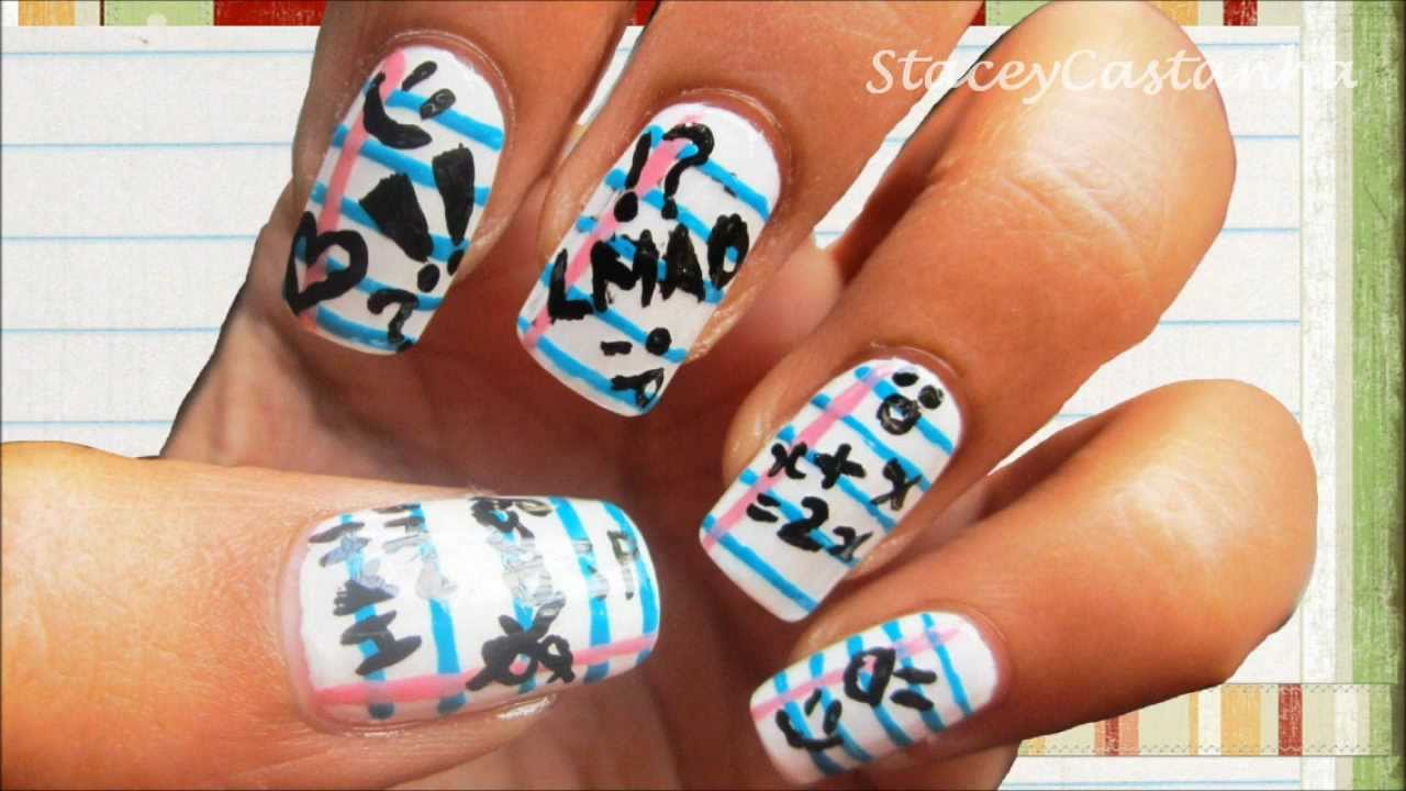Back To School Nail Design Tutorial Simple Easy Nail Art