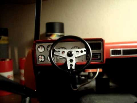 1 10 K5 Blazer Dashboard With Interactive Steering Wheel