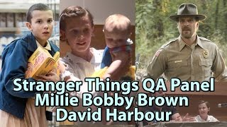 Stranger Things Millie Bobby Brown & David Harbour Panel Phoenix Comicon Fanfest
