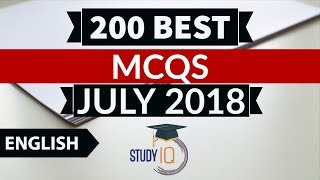 200 Best current affairs JULY 2018 in English Set 1  - IBPS PO/SSC CGL/UPSC/KVS/IAS/RBI Grade B 2018