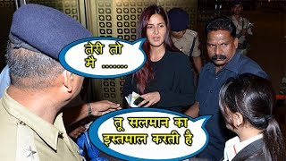 Katrina Kaif FIGHTS with Salman's Fan at the Airport | Watch Full Video