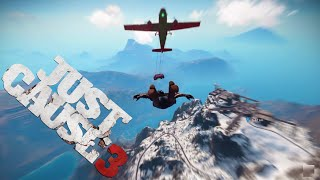 Car with Wings vs Falco Maxime Nuke! - Just Cause 3 Airplane Puppeteer Challenge