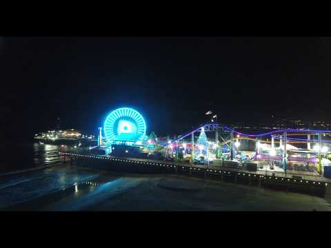 Santa Monica Pier Christmas Light Show