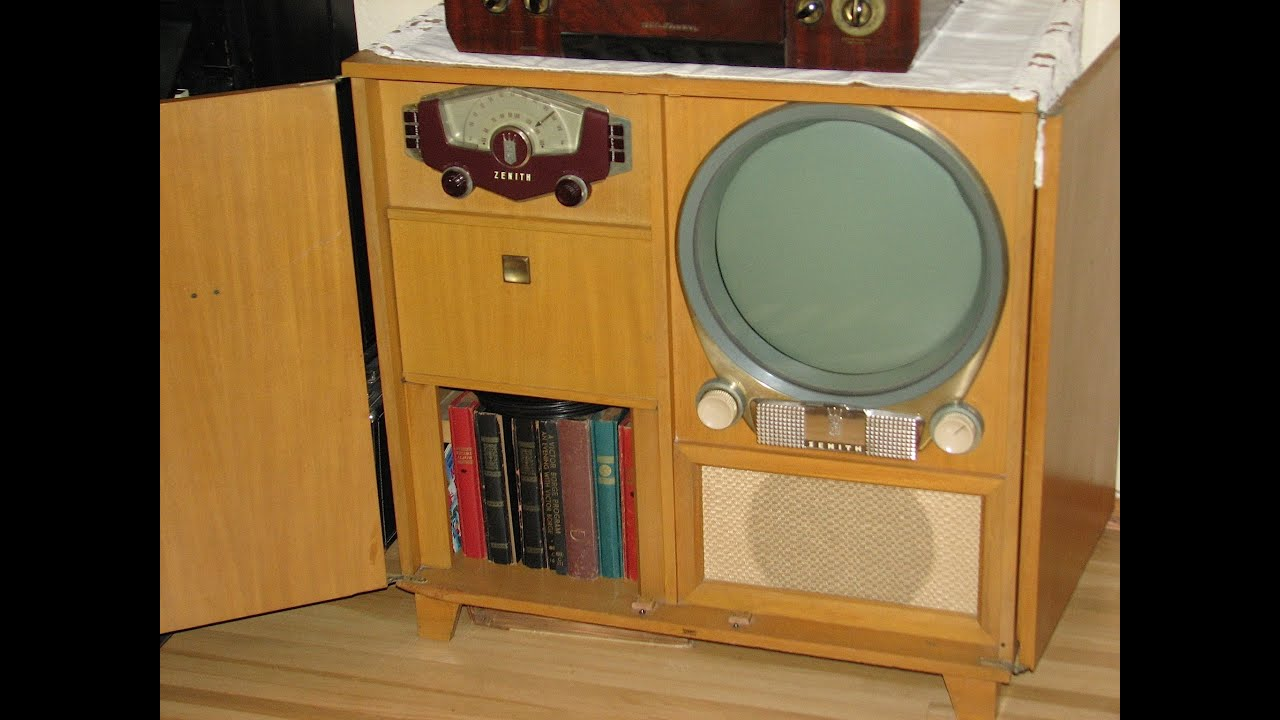 1951 Zenith TV  Model H3478E  Outer Limits  YouTube