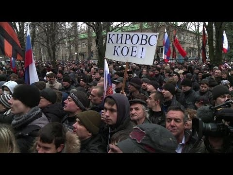 4,000 pro-Russian Ukrainians protest in Donetsk