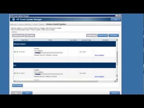 Updating a BladeSystem c7000 with HP Smart Update Manager 5