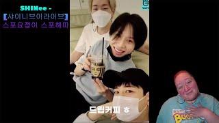 "I react to: SHINee - ""[샤이니브이라이브] 스포요정이 스포해따✨"""