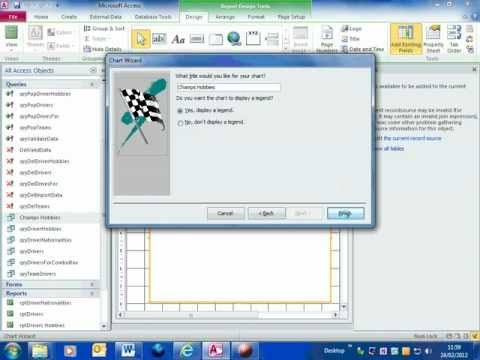 how to create a gantt chart in access 2013