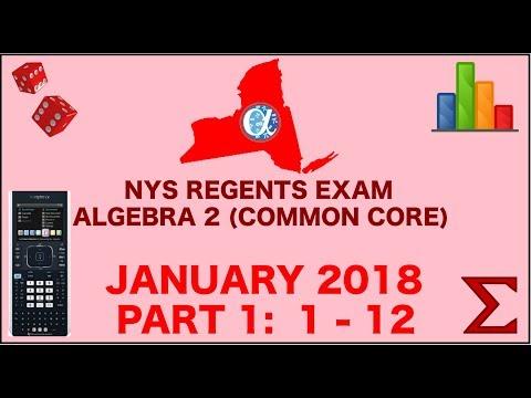NYS Algebra 2 Common Core January 2018 Regents Exam