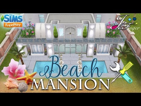 The Sims FreePlay 🛠 LIVE BUILD 🛠 🐚🌴- BEACH MANSION -🌴🐚 By Joy. - 동영상