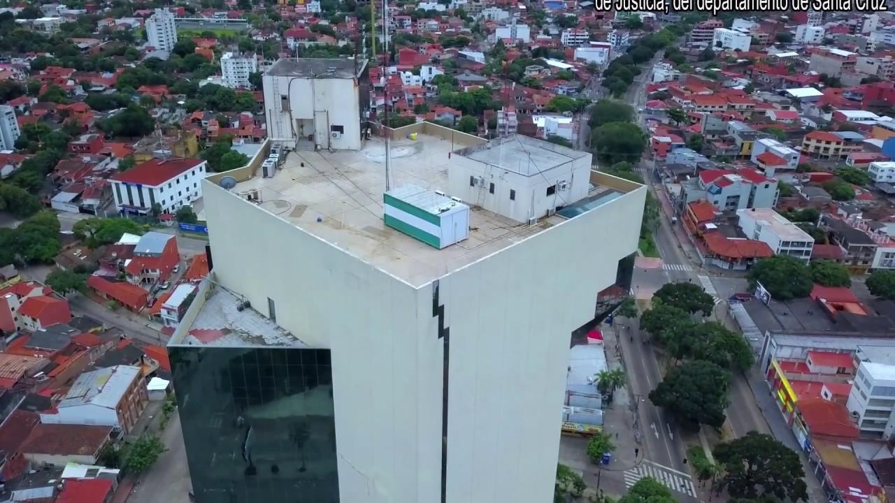 Palacio De Justicia A Vista De Dron Santa Cruz Bolivia