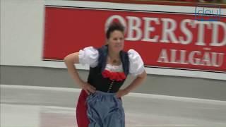 Gabriele ERMONEIT. Oberstdorf 2018. Silver Ladies IV - Free Skating. 5 place