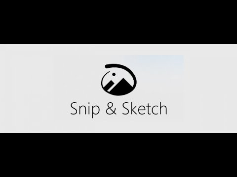 Snip and Sketch replaces Snipping Tool