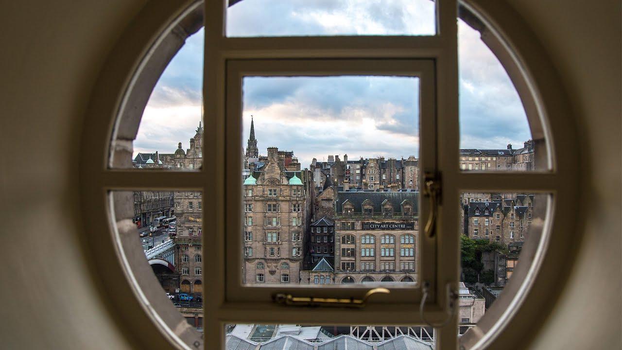 Hotel Room Window : Best view of edinburgh from a hotel room window youtube