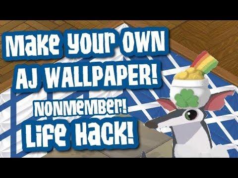 AJ WALLPAPER! NM & MEMBER! Animal Jam