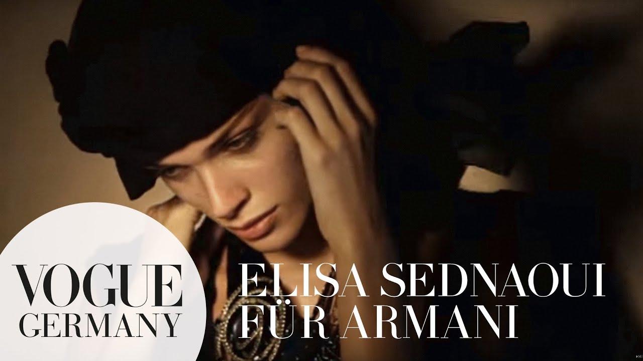 Elisa Sednaoui posiert beim Armani Foto Shooting | VOGUE Behind the Scenes