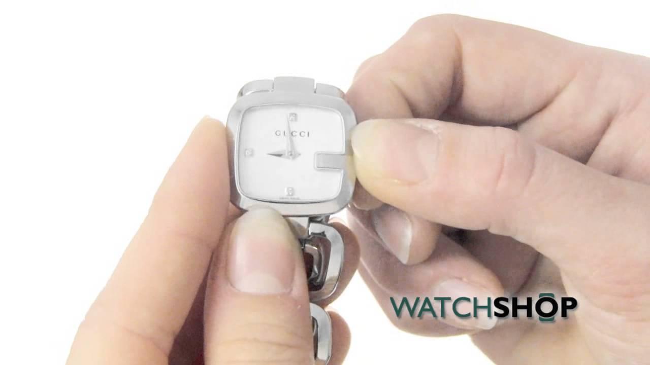 2118a1bdfdf Gucci Ladies  G- Diamond Watch (YA125502) - YouTube