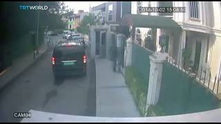CCTV footage shows Saudi journalist walking into consulate before disappearing