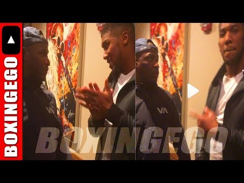 BOXER PULLS UP ON ANTHONY JOSHUA TELLS HIM 'HE FEARS WILDER' TO HIS FACE!!! (ERIC KELLY)   BOXINGEGO