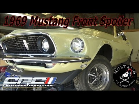 1969 mustang front spoiler california pony cars ford mustang