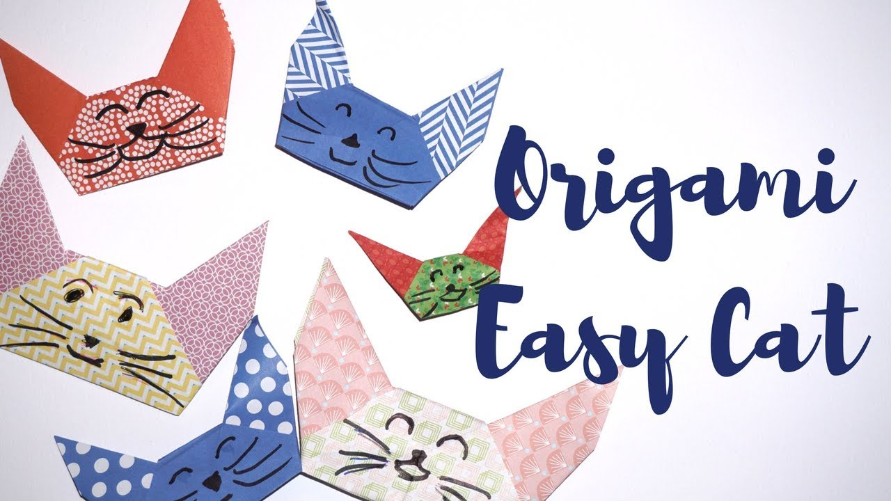 how to make a paper cat easy
