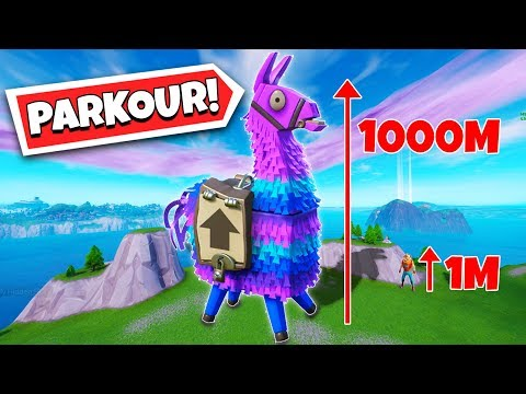 I Made Giant Llama PARKOUR In Fortnite! (Fortnite Creative Mode)