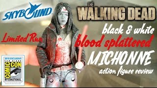 SDCC 2015: BLOOD SPLATTERED MICHONNE BLACK & WHITE action figure review from Skybound comics
