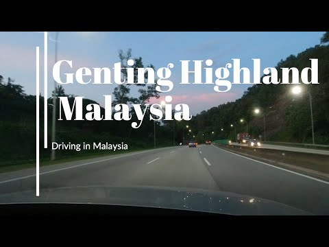 Driving from Mont Kiara to Genting Highland, Malaysia