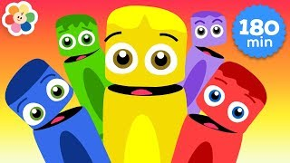 Learning Colors for Kids   3 Hours Compilation of Color Crew   Educational Videos for Toddlers