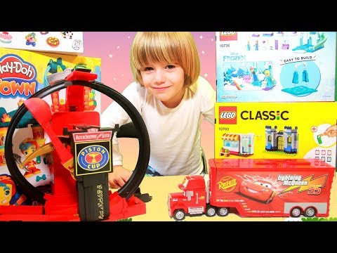 Thumbnail: Disney Cars Lightning Mcqueen crazy Crach at Home - 100+ cars toys giant egg surprise opening crash