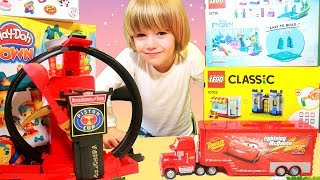 Disney Cars Lightning Mcqueen crazy Crach at Home - 100+ cars toys giant egg surprise opening crash thumbnail