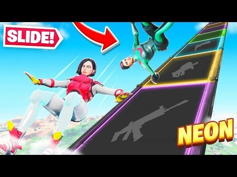 GOING *DOWN* The SLIDE For Loot in Fortnite!