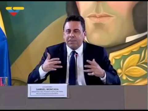 Le ministre des Affaires Etrangères, Samuel Moncada, dénonce les manipulations médiatiques
