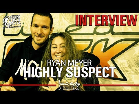 HIGHLY SUSPECT - Ryan Meyer interview @Linea Rock 2018 by Barbara Caserta
